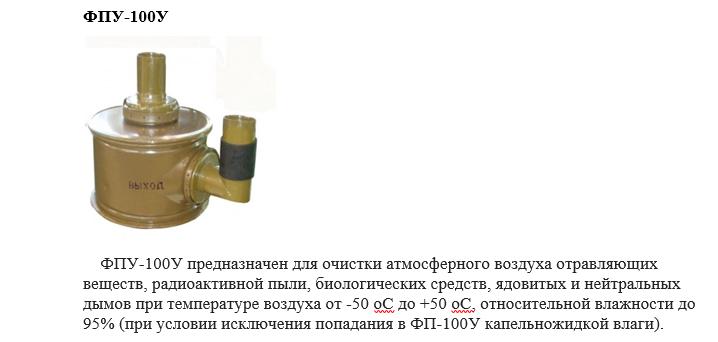Фильтры для  оборонной промышленности ФПУ 100У